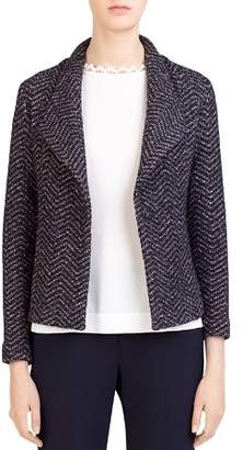 Gerard Darel Selma Chevron-Tweed Knit Blazer