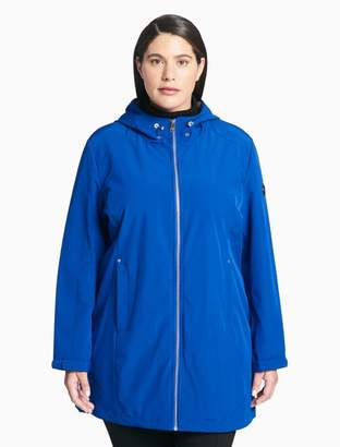 Calvin Klein plus size soft shell zip jacket