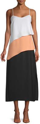 Armani Exchange Tiered Midi Dress