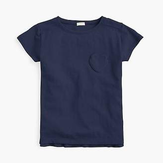 J.Crew Girls' T-shirt with heart-shaped pocket