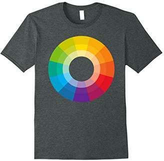 Color Wheel Circle Schemes Variations Hue Colors Artsy Tee
