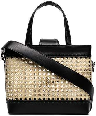 Mehry Mu black Fey rattan basket bag