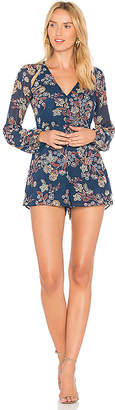 Line & Dot Adelene Romper in Navy $81 thestylecure.com