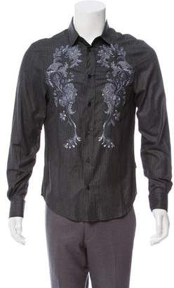 Just Cavalli Embroidered Button-Up Shirt w/ Tags
