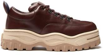 Eytys Angel Chunky Leather Trainers - Mens - Brown