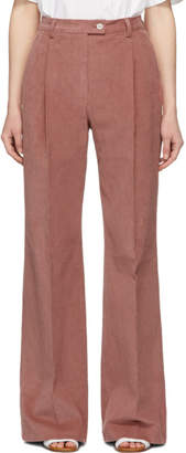 Acne Studios Pink Corduroy Pina Summer Trousers