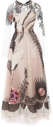 Temperley London Opera Sequined Embroidered Tulle Gown
