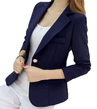 SELX Women Vintage Business Casual Jacket Blazer US S