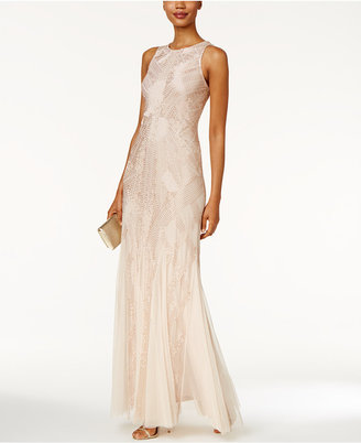 Adrianna Papell Beaded Halter Gown $369 thestylecure.com