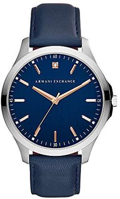 Armani Exchange Mens Analogue Quartz Watch with Leather Strap AX2406