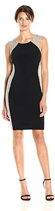Xscape Evenings Women's Short Dress with Caviar Bead Sides