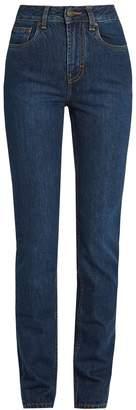 ROCKINS High-rise straight-leg jeans