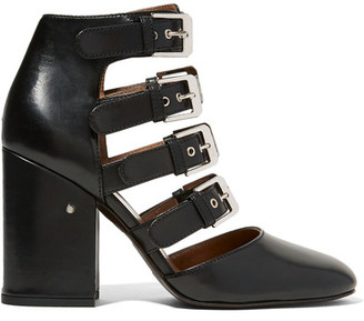 Laurence Dacade - Maja Buckled Leather Pumps - Black $1,060 thestylecure.com