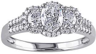 Affinity Diamond Jewelry Oval & Round Diamond Ring, 9/10 cttw, 14K Gol d by Affinity