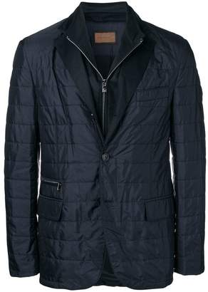Corneliani zipped fitted jacket