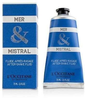 L'Occitane NEW Mer & Mistral After-Shave Fluid 75ml Mens Skin Care