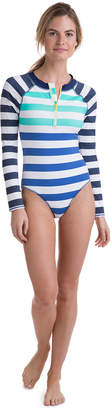 Vineyard Vines Flag Stripe One Piece Rash Guard