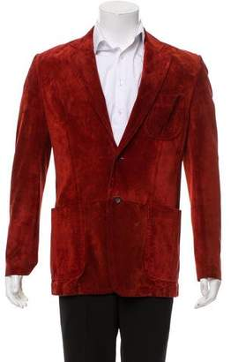Gucci Suede Two-Button Sport Coat