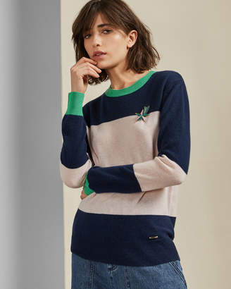 Ted Baker BRYONNY Cashmere colour block jumper