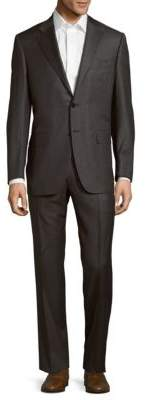 CanaliClassic-Fit Solid Italian Wool Suit
