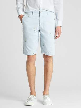 """12"""" Embroidered Shorts"""