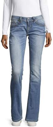 Miss Me Women's Thick Stitch Relaxed Jeans
