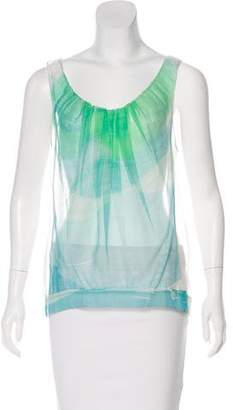 Chloé Silk Sleeveless Sheer Top