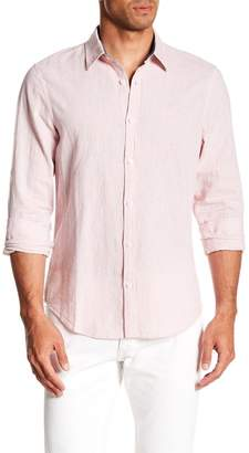 Original Penguin Roll Sleeve Linen Blend Slim Fit Shirt