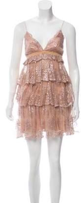 Marchesa Sleeveless Mini Dress
