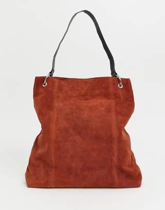Asos Design DESIGN suede ring detail shopper bag