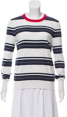Equipment Striped Long Sleeve Sweater
