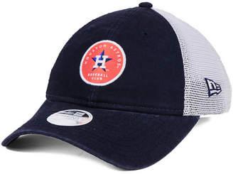 New Era Women's Houston Astros Washed Trucker 9TWENTY Cap