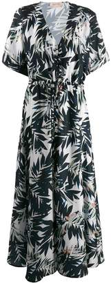 Black Coral Savage tropical printed maxi dress