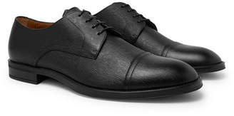 HUGO BOSS Coventry Textured-Leather Derby Shoes - Men - Black