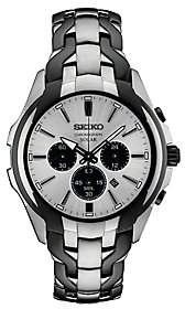Seiko Men's Stainless Two-Tone Solar Chronograph Brushed Watch