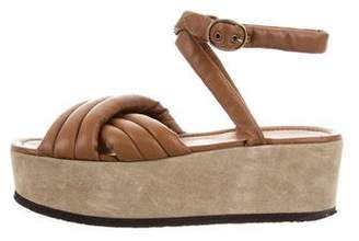 Isabel Marant Leather Ankle-Strap Sandals
