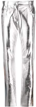 MSGM shiny slim-fit trousers