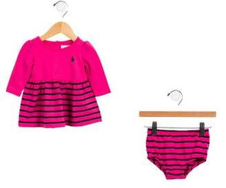 Ralph Lauren Girls' Striped Bloomers Set