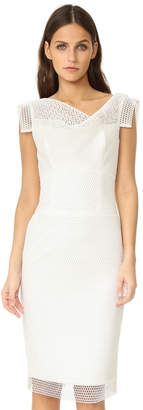 Black Halo Jackie O Anniversary Collection Bonded Mesh Sheath Dress $390 thestylecure.com