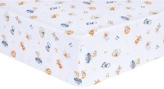 Trend Lab Safari Rock Band Animal Fitted Crib Sheet