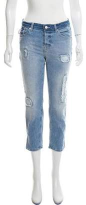Zadig & Voltaire Distressed Mid-Rise Skinny Jeans