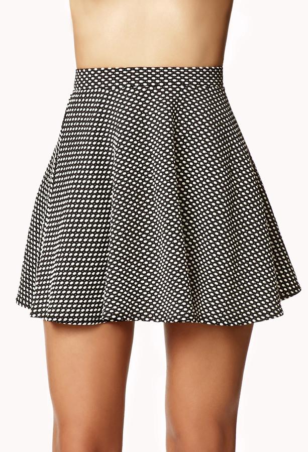 Forever 21 Mod Polka Dot Skater Skirt