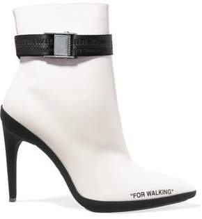 Off-Whitetm For Walking Printed Leather Ankle Boots