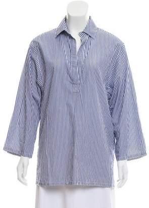 Organic by John Patrick Striped Long Sleeve Top