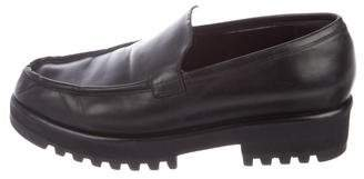 Robert Clergerie Leather Round-Toe Loafers