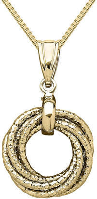 JCPenney FINE JEWELRY Infinite Gold 14K Yellow Gold Love Knot Pendant Necklace
