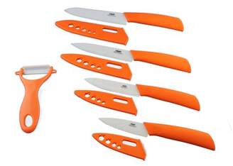Wolfgang Cutlery 9PC. Professional Series Ceramic knife Sets In Orange