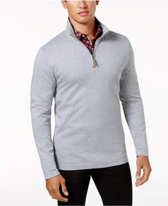 Tasso Elba Men's Supima Cotton Quarter-Zip Sweater, Created for Macy's