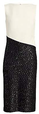 St. John Women's Glittering Sequin Rib-Knit Sheath Dress