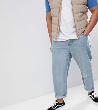 Asos Design PLUS Skater Jeans In Vintage Light Wash Blue